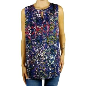 Cabi 3093 stained glass keyhole sleeveless top